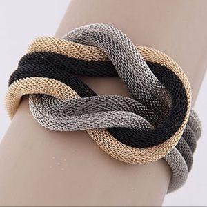 Jewelry - 5🌟RatedMixedMetalRopeKnotBracelet✔️Adjustable